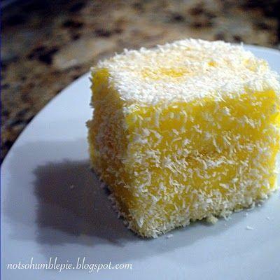 Not So Humble Pie: Lemon Meringue Lamington