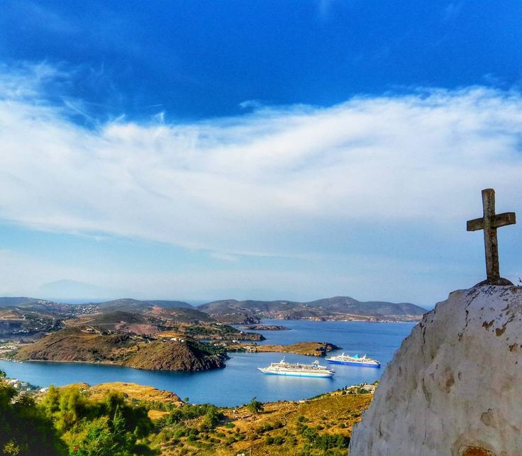 This sweet view from the top of Patmos island is what you are craving for in your trips & excursions with Celestyal Cruises!  Photo by @alprakn #Celestyalcruises #Patmos #sweet #view #sea #sky