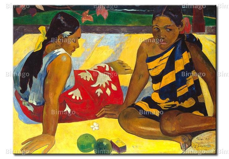 Due donne di Tahiti - Paul Gauguin (quadri famosi su tela// famous painting on canvas)
