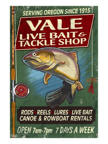Vale, Oregon - Bait and Tackle Shop Trout