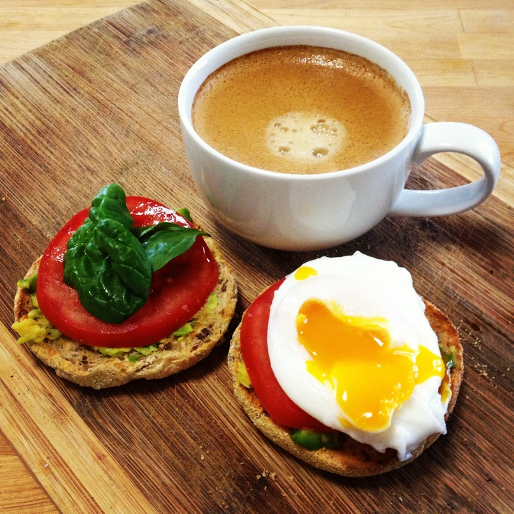 Friday treat breakfast! @Michelle Flynn Bridges Egg with Avocado & Tomato Toast