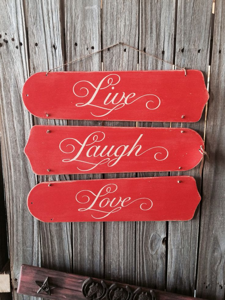 Repurposed fan blades into super cute wall sign. Chalk painted coral, distressed, stenciled, and tied together with twine.