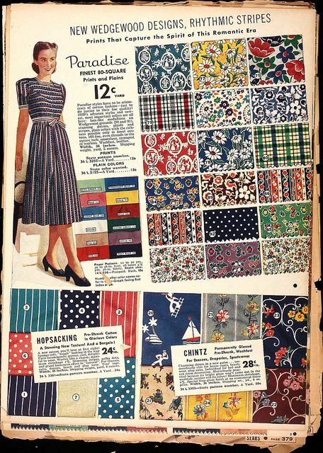 I like the pattern fine, but this is especially interesting because of all the fabrics pictured.