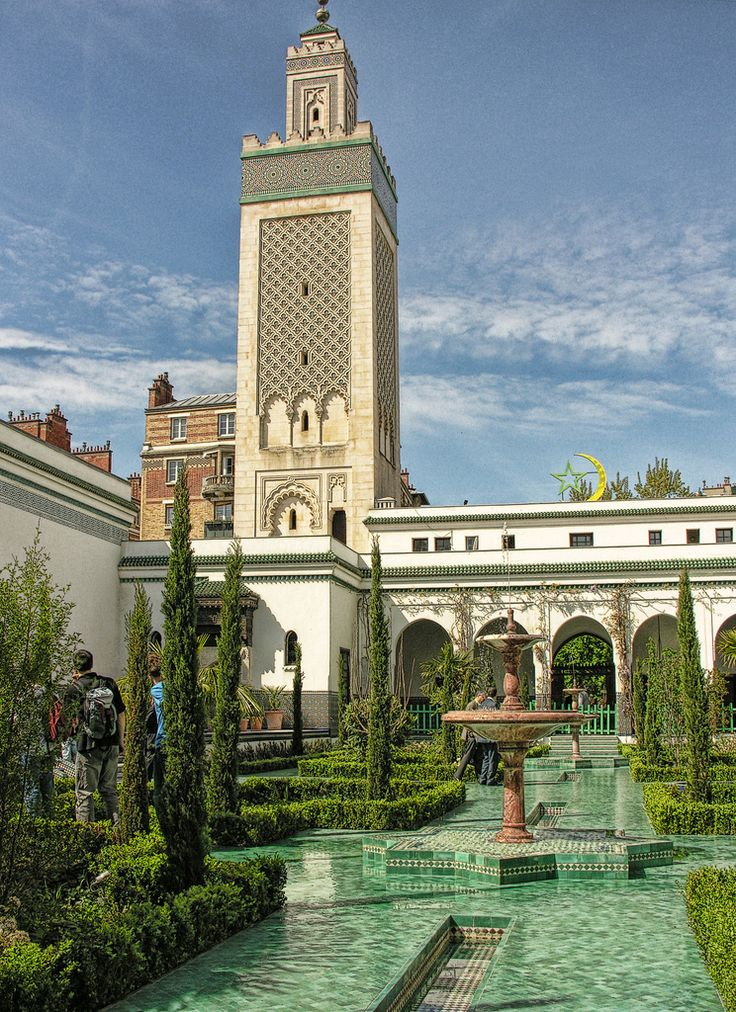 The Grande Mosquée de Paris (commonly known as The Paris Mosque or The Great Mosque of Paris in English), is located in the 5th arrondissement and is one of the largest mosques in France.