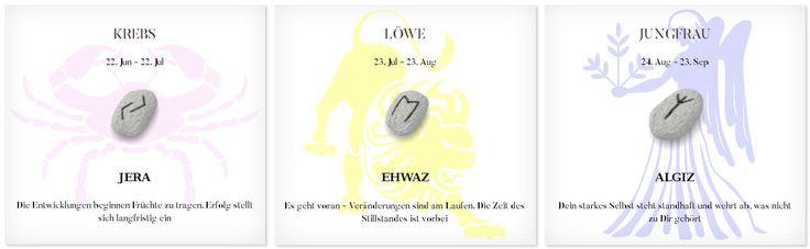 Runen Tageshoroskop 9.3.2017 #Sternzeichen #Runen #Horoskope #krebs #löwe #jungfrau