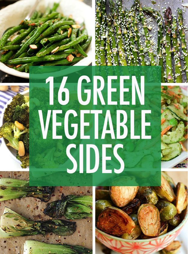 Bored with your side dish options? Switch things up (and eat a little healthier) with these green vegetable side dishes.