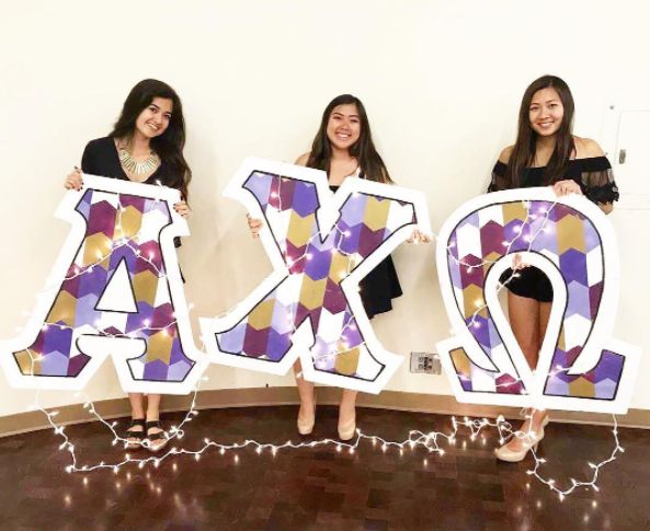 Alpha Chi Omega at University of California, San Diego #AlphaChiOmega #AChiO #recruitment #rush #letters #sorority #UCSD