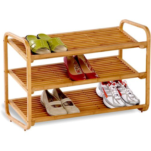 Honey can do 3 tier deluxe bamboo shoe shelf shoe for What can you do with bamboo