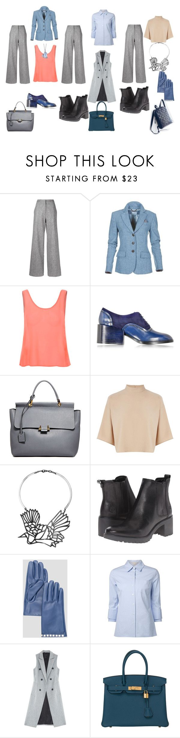 """серые брюки"" by viking-mo on Polyvore featuring мода, ADAM, Glamorous, Jil Sander, Lanvin, Warehouse, Carven, Timberland, Ashley Stewart и Michael Kors"