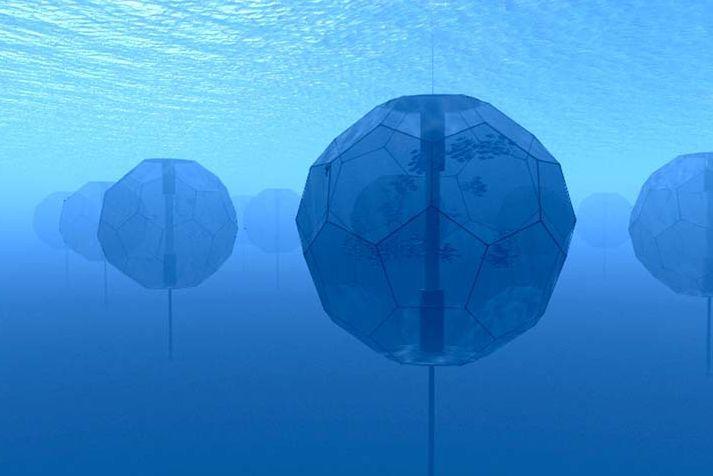 Ocean sphere, tension anchor, sphere habitat, 99% of the planetary living space is water. http://yook3.com, Wilfried Ellmer