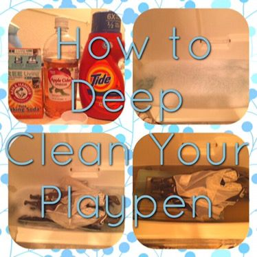 For the longest time I have been searching for a way to clean my sons playpen. He uses it all the time and its been through some rough times at this point. I was so excited to find a DIY recipe tha…