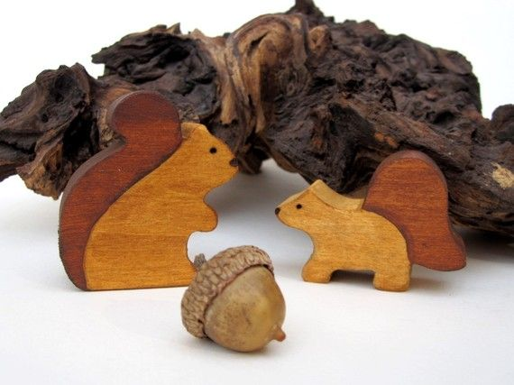 Wooden Squirrel Toy