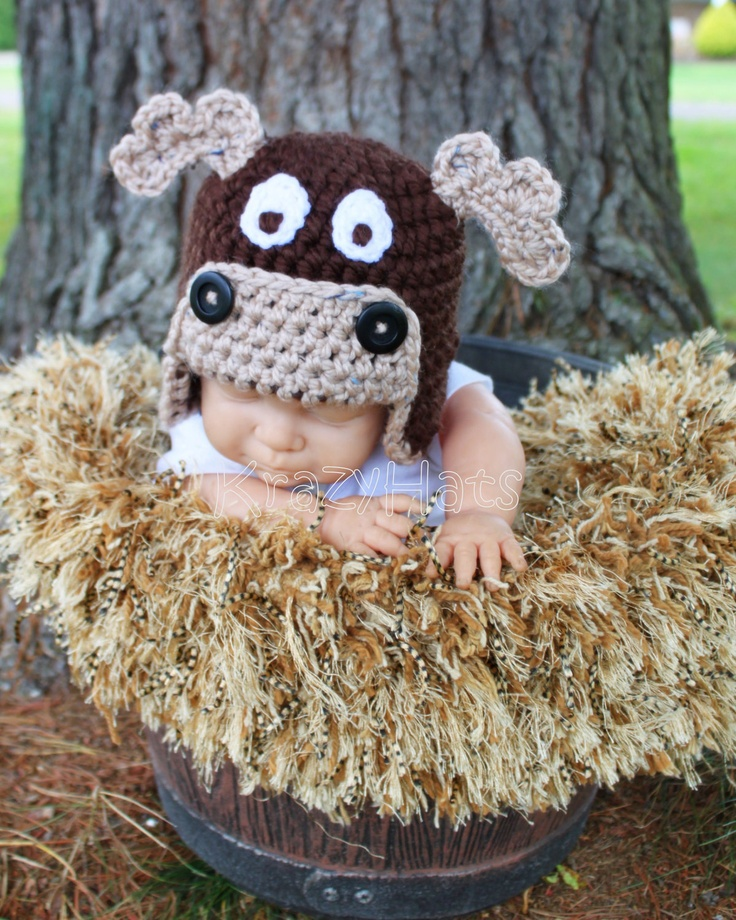 Crochet Moose Hat. $25.00, via Etsy.