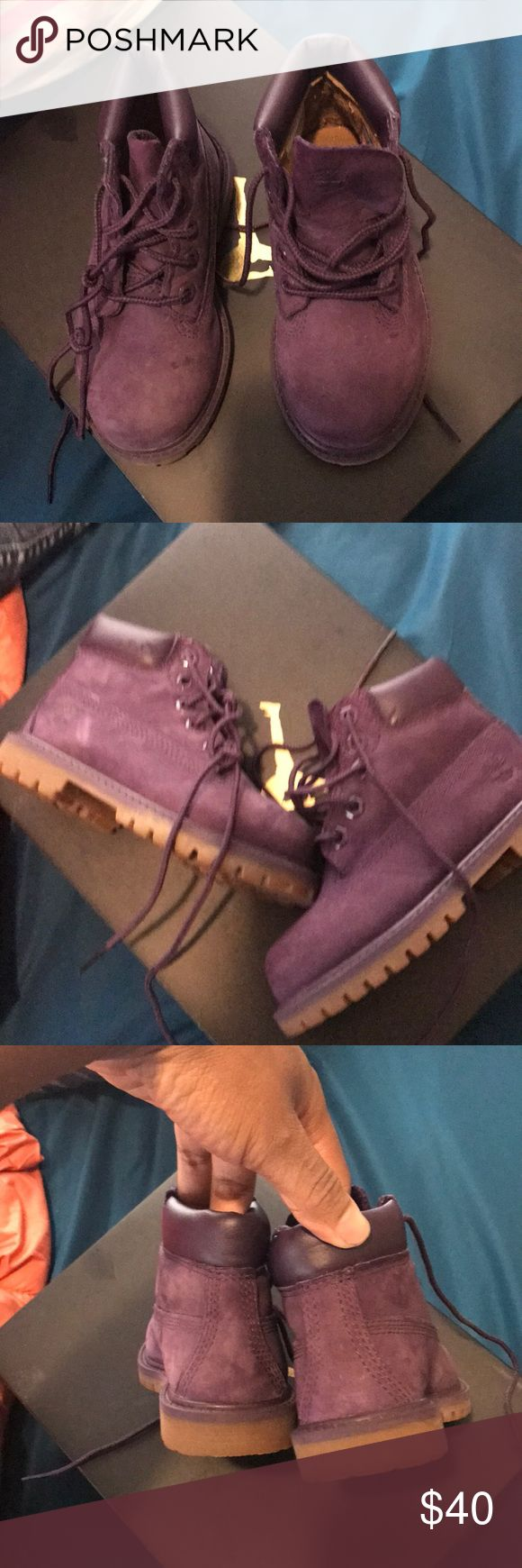 Toddlers Timberlands Purple size 8 timberlands for girls. Great condition! Timberland Shoes Boots