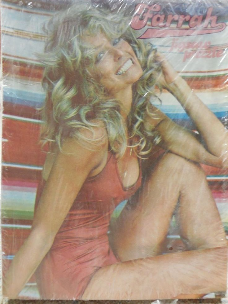 vintage 70's farrah  fawcett jigsaw puzzle complete w all parts and pieces from $10.0