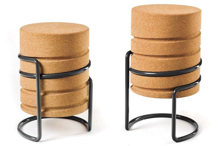 design du liège, tabouret en liège, meubles en liège, Manuel Welsky, SCRW