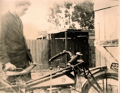 shots from the 1920s onwards, of a variety of machines, ranging from ABC and Brough Superior to Velocette, all taken by one Harry Beanham. In later years I came to know a bit about this man who lived in Sydney; his quirky ways, his motorcycles, and his undying love of Velocette LEs