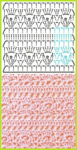 crochet stitch - picture and diagram only