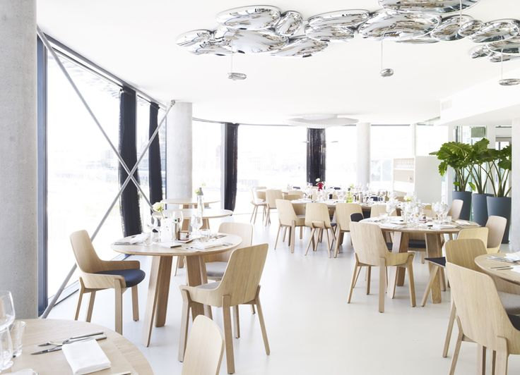 Kuskoa and Koila chairs with Triku tables in Gerald Passedat's restaurant in MUCEM