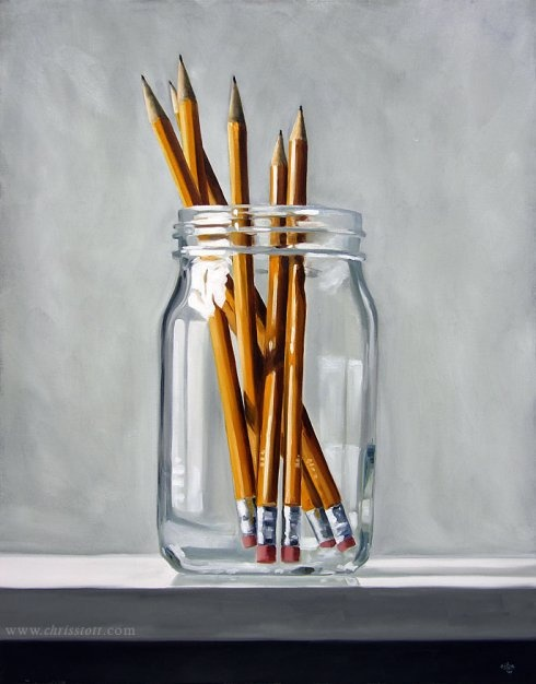 Simple, but beautiful observational work.  I really like the crisp reflections in the glass.