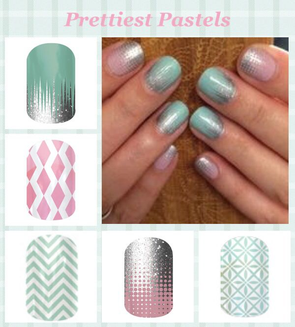 Iced, Rose-Colored Glasses, Mint Chevron, Fade In, So Fresh Pictured On: Fade In & Iced.  Browse and order at valeriemengis.jamberrynails.net!