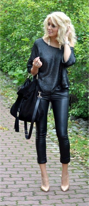 would never have thought to wear nude pumps with black but it's nice - doesn't take away from the outfit. good to know.