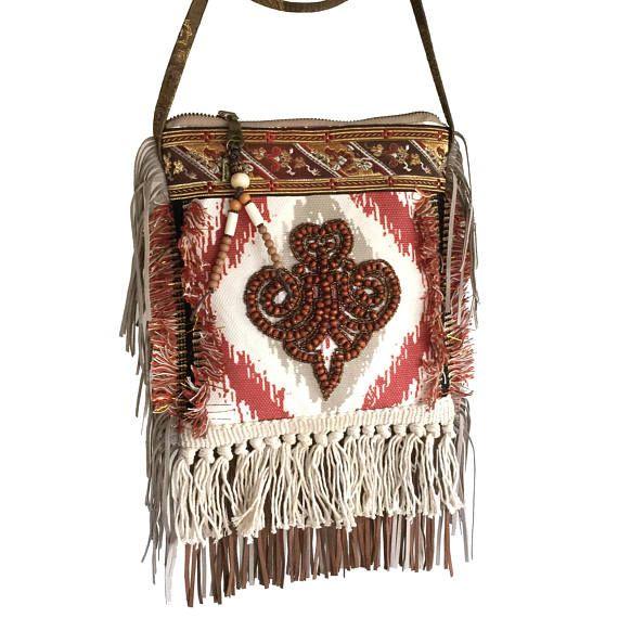 Mini tasje Navajo stijl bohemian tasje met ornament