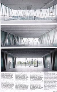 Leutschenbach Schule by Christian Kerez, interior spaces on different levels.