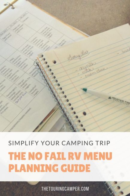Need help with camping menu ideas? This no fail RV menu planning guide will streamline and simplify mealtime on your next camping trip.