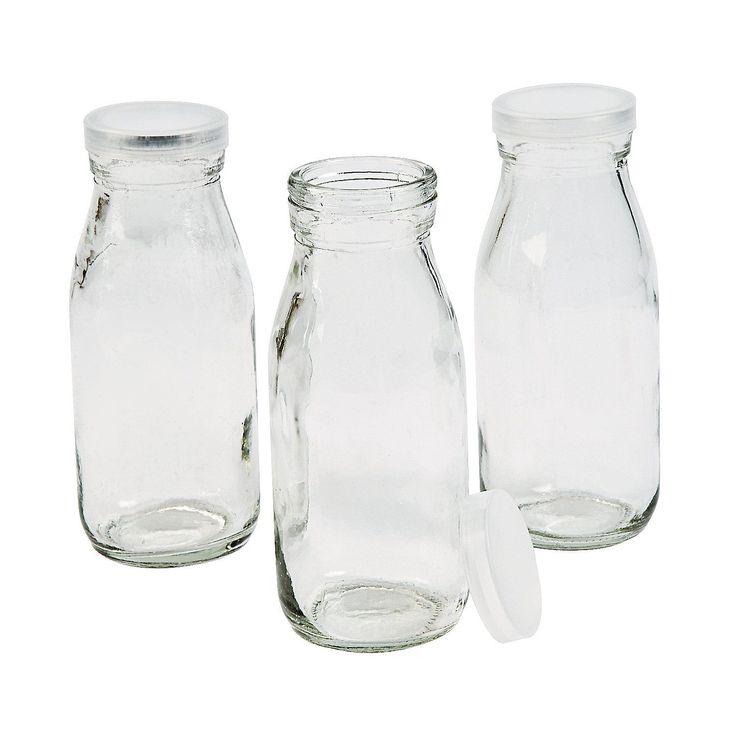 food grade vintage style milk bottles w lids i get the feeling i 39 ll be diying a lot of milk. Black Bedroom Furniture Sets. Home Design Ideas