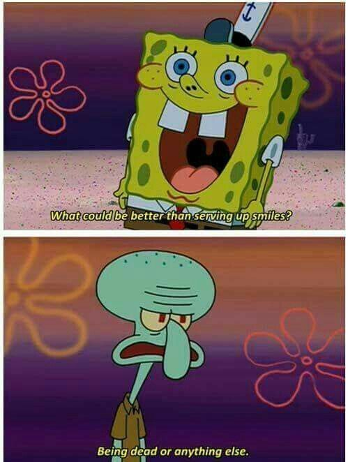 Squidward understands