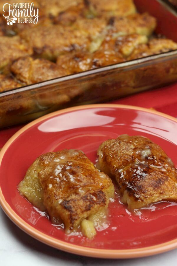 If you are looking for a delicious apple dessert recipe, this one is for you. These apple dumplings are like individual apple pies and they are so easy to make!