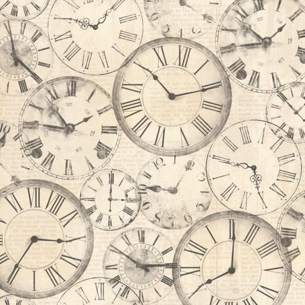 Now & Then - Clocks 30,5 x 30,5 cm