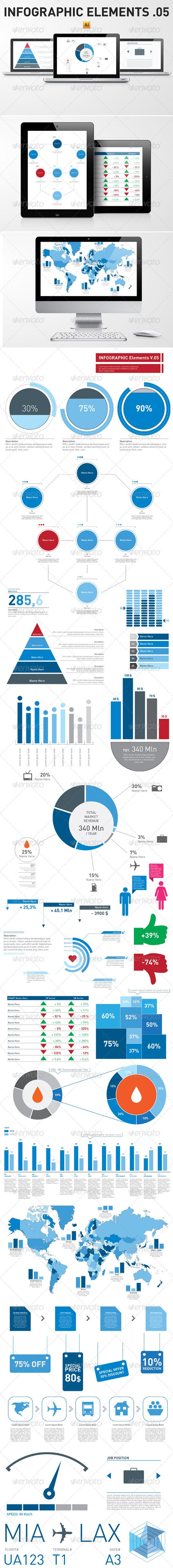 Infographic Elements Template Pack 05 - Infographics