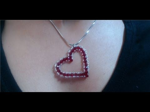 ▶ DIY Crystal Heart Pendant (quick and easy) for valentine's day - YouTube