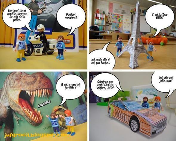In het 5de leerjaar krijgen onze leerlingen Frans. Enkele jaren geleden introduceerde ik twee Playmobilpoppetjes in de klas, Jean et Julie...