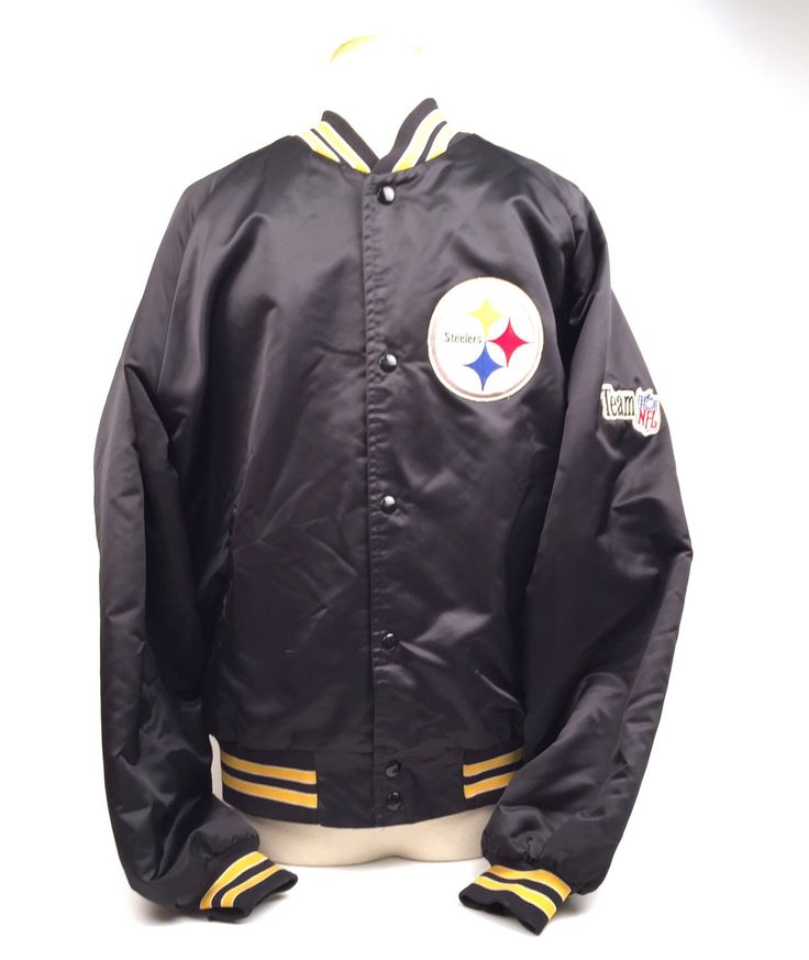 A personal favorite from my Etsy shop https://www.etsy.com/listing/268287793/pittsburgh-steelers-jacket-black-satin