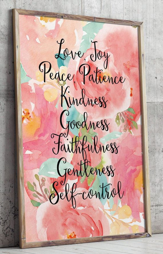 Printable verses Fruit of the spirit wall art by TwoBrushesDesigns