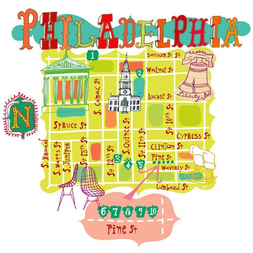 Cute #Philly map
