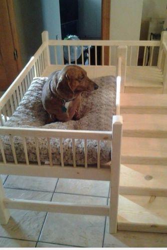 Wooden handmade raised platform dog bed (daschund/westie/yorkshire terrier) s