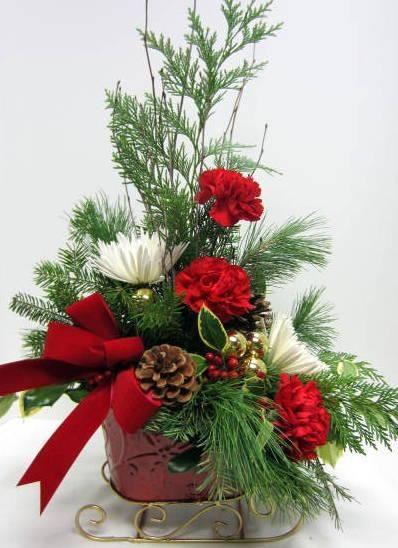 335 Best Christmas Amp Winter Floral Arrangements Images On