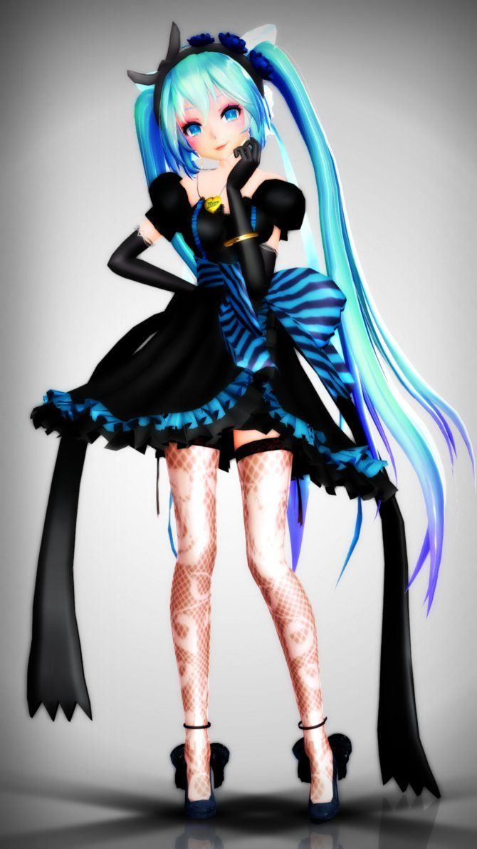 61 best images about mmd m o d e l s on pinterest models - Cute anime miku ...