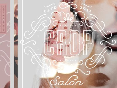 Crop Salon Logo & Elements /