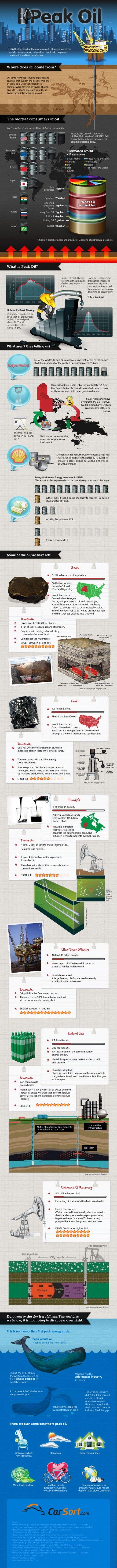 Oil & Peak Oil Infographic
