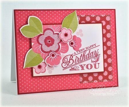 Днем рождения, открытки из бумаги в горошек