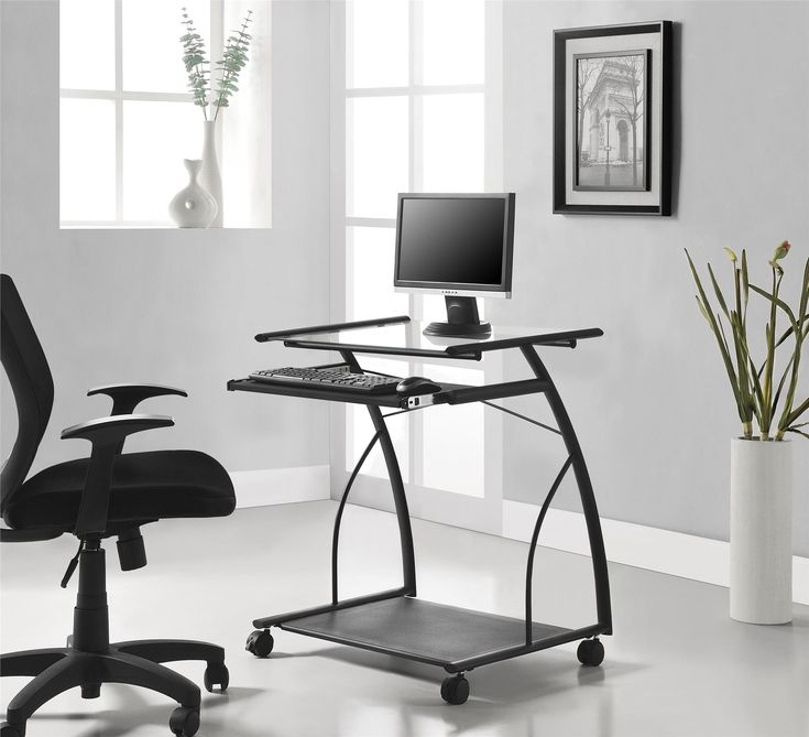 The Ameriwood Home Sheldon Mobile Computer Desk allows you to work from anywhere in your home without the hassle. Compact and transportable, this 29.1325