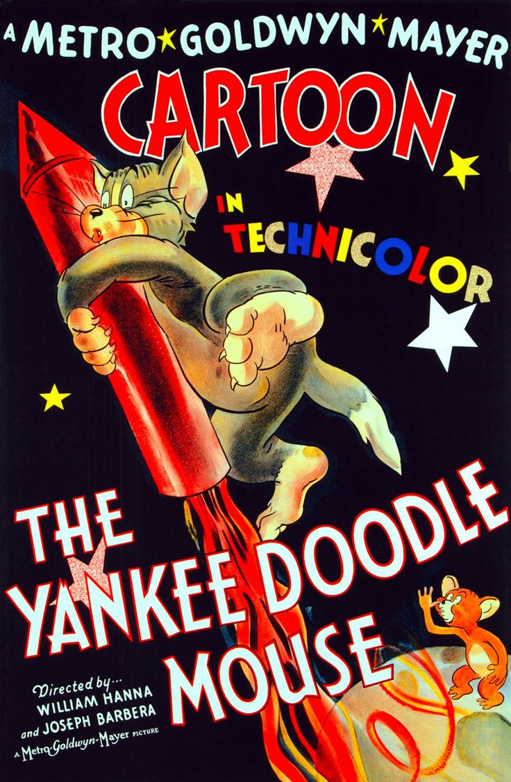 The Yankee Doodle Mouse is a 1943 American one-reel animated cartoon. It is the eleventh Tom and Jerry short produced by Fred Quimby, and directed by William Hanna and Joseph Barbera, with musical supervision by Scott Bradley and animation by Irven Spence, Pete Burness, Kenneth Muse and George Gordon. It was produced in Technicolor and released to theaters on June 26, 1943 by Metro-Goldwyn Mayer. As Tom and Jerry stage their typical fight sequences, the patriotic soldier theme of the title…