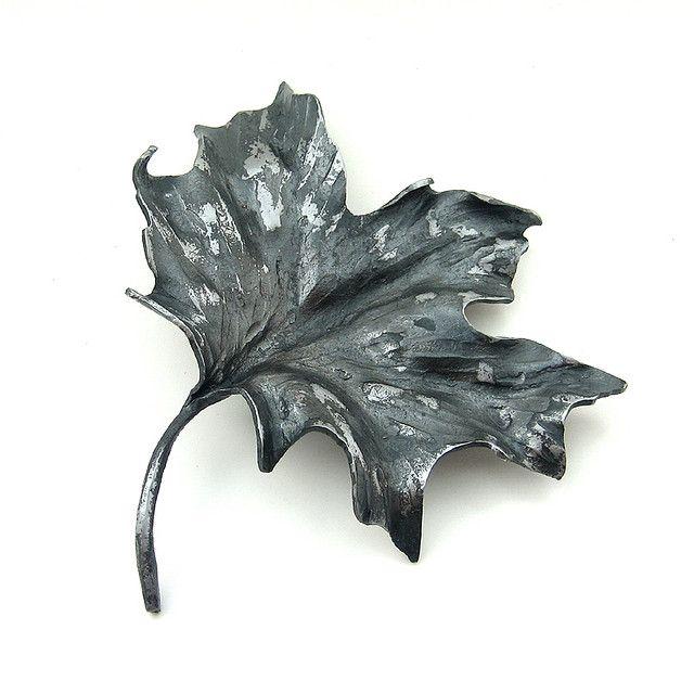 Handforged Maple Leaf Art