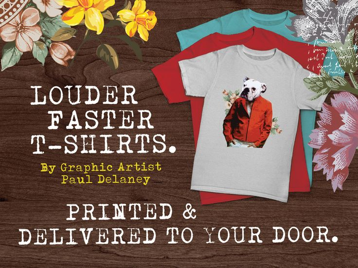 My range of t-shirts are available to purchase online if they tickle your fancy!