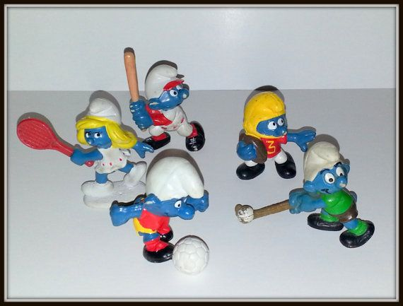 Vintage SMURF lot of 7 toy Figurines. by AlphachicsEDEN on Etsy, $12.00
